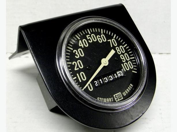 Stewart Warner SW Vintage Speedometer 100 MPH 65 Shelby Mustang