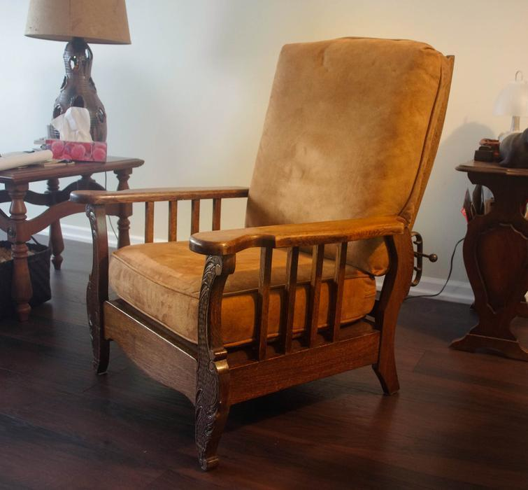 antique reclining chair antique reclining morris chair excellent outside 1296