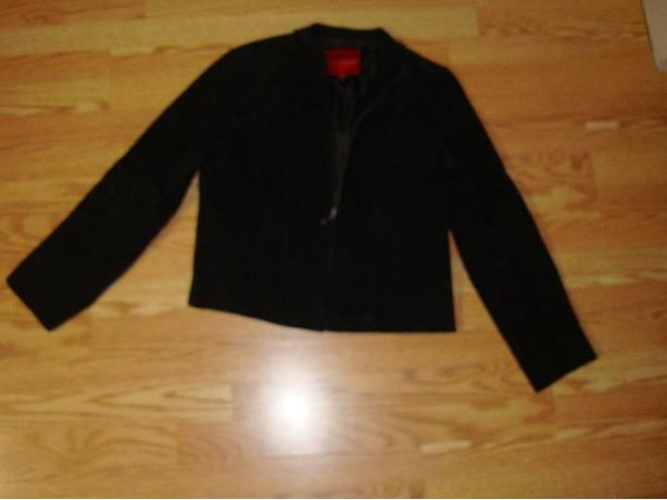 New Black Suede Coat Adult Size Medium - $25