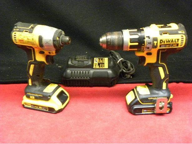 Dewalt 20v xr brushless hammer drill and impact driver for Dewalt 20v brushless motor