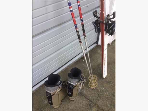 Skis, Bindings, Boots and Poles