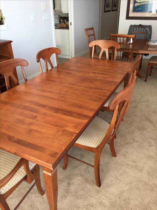 shermag dining table 2 napoleon chairs amp 4 side chairs