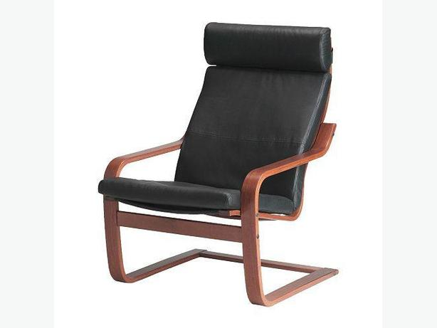Wanted ikea poang black leather chair foot stool or rocking chair victoria city victoria - Ikea poang chair leather ...