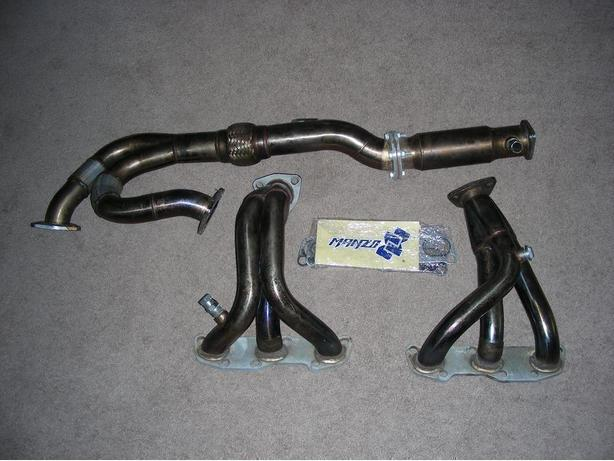 Nissan V6 FWD VQ35DE used custom Manzo Headers and Y pipe