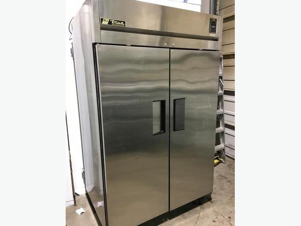 True Stainless Steel Commercial Kitchen Refrigerator Outside Nanaimo Nanaimo