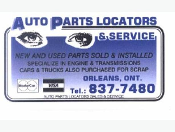 Auto Parts Locators, Sales and Service Inc.,