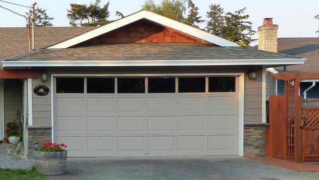 Double Wide Garage Door With Window Tops Saanich Victoria