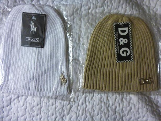 DESIGNER HATS - RALPH LAUREN POLO and D&G - $13 EACH