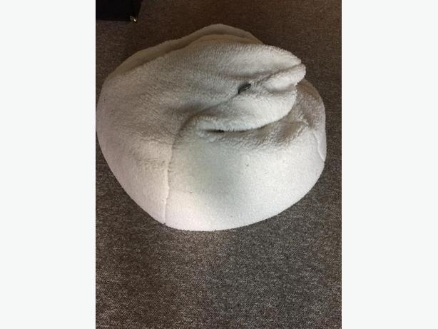White Fluffy Bean Bag Chair Victoria City Victoria