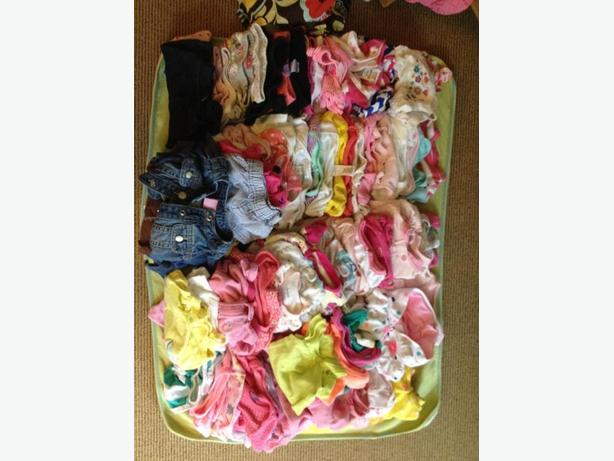 Baby stuff...exersaucer, carriers, diaper bag, nb-6month clothes