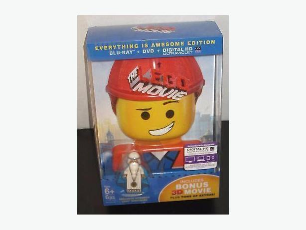 Unopened Lego Movie Bluray, DVD, digital copy and Vitruvius minifigure