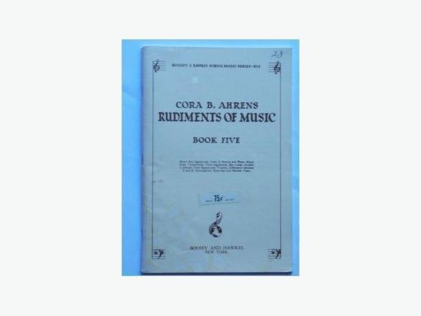 Cora B Ahrens Rudiments of Music Books