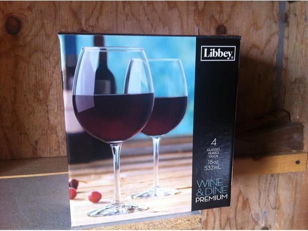 Large red wine glasses