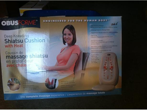 Shiatsu back cushion