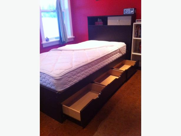 Twin Bed and Mattress Set