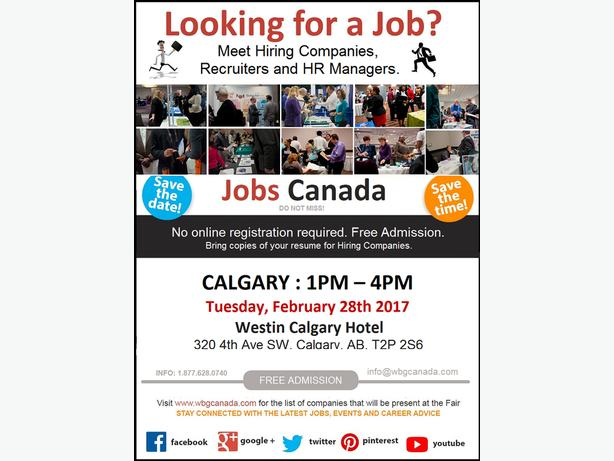 Calgary Job Fair – Tuesday, February 28th, 2017