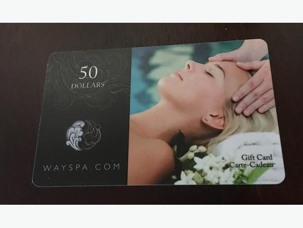$50 WaySpa gift card