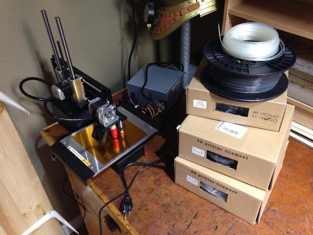 printrbot 3d printer simple metal with heated bed and several rolls
