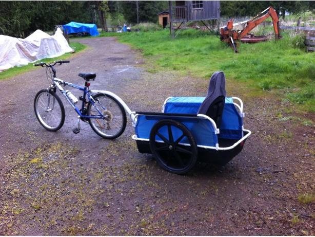 Heavy duty bike trailer