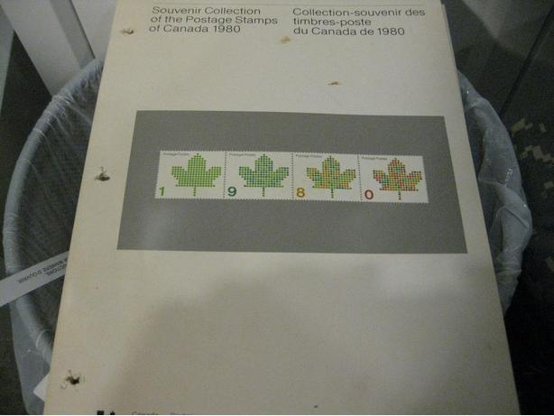 Canada 1980 Stamp Year Book All stamp inside FV=6.87
