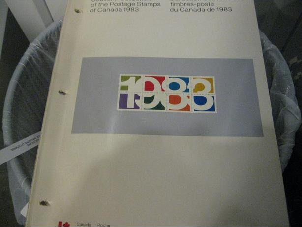 Canada 1983 Stamp Year Book All stamp inside FV=19.76