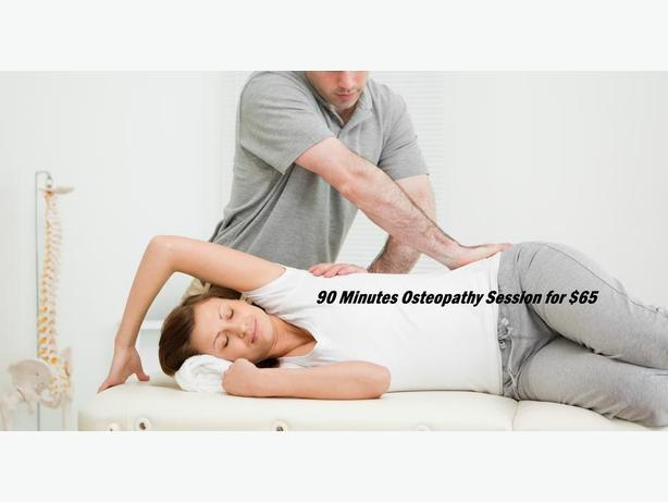 90 Minutes Osteopathy Session for $65