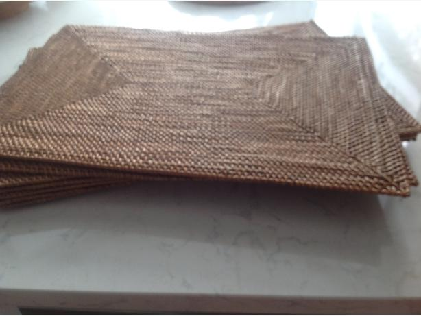 8 Pottery Barn Placemats (wicker woven)