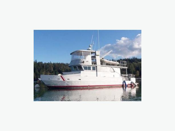Flybridge Cabin Cruiser - US Coast Guard Conversion  - Little Ship