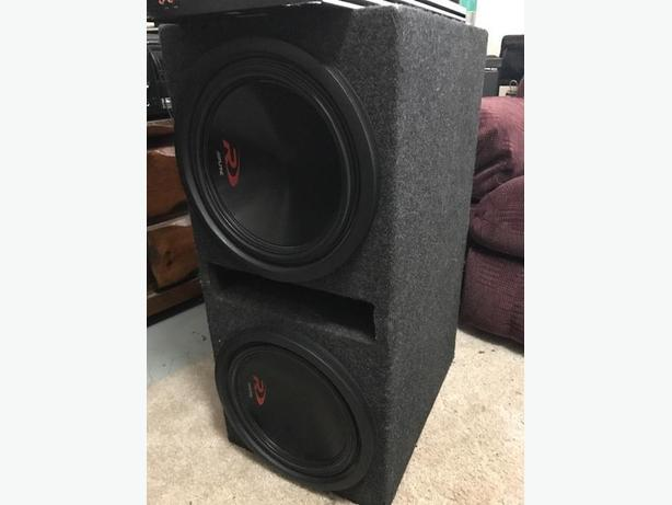"Alpine Type R 12"" subs in ported spec box"