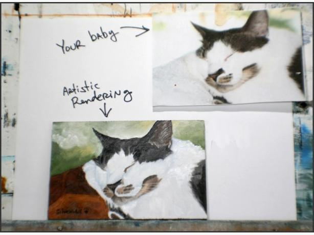 Get a custom oil painting of your pet!