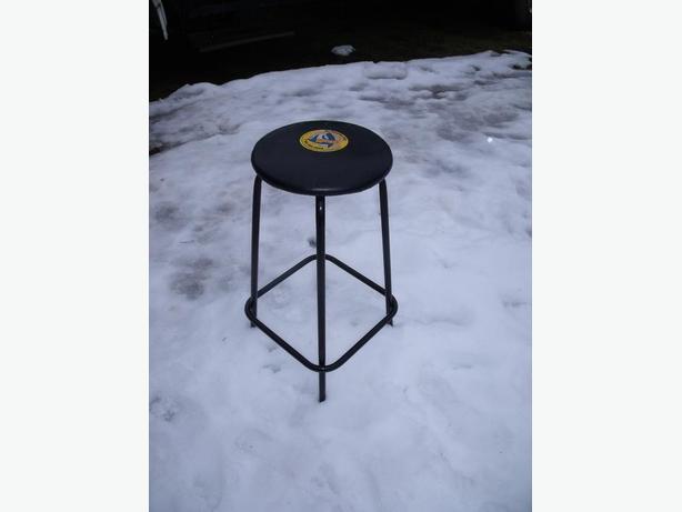 STOOL BLACK ON CHROME $10