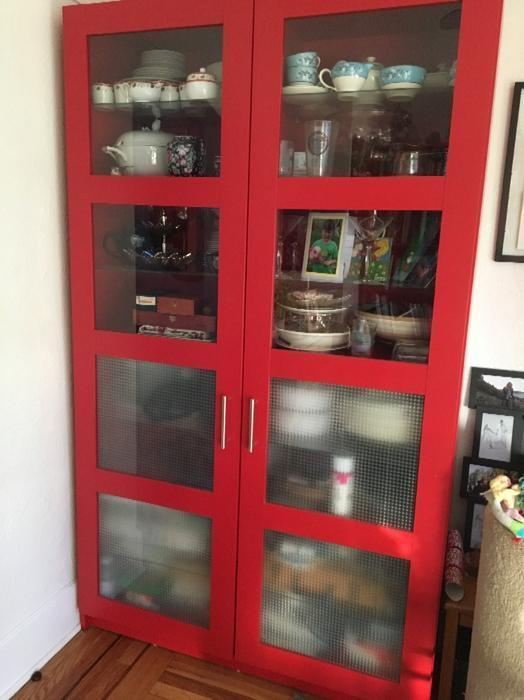 Ikea Cabinet Bookcase With Glass Doors Saanich Victoria