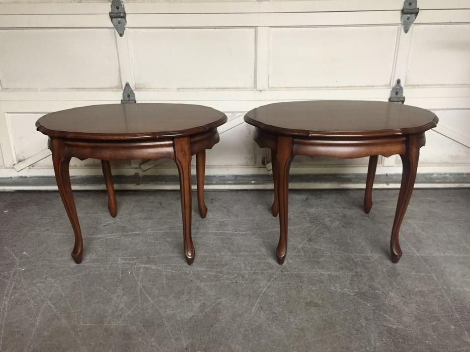 Fruitwood Coffee Table And Two Side Tables Saanich Victoria