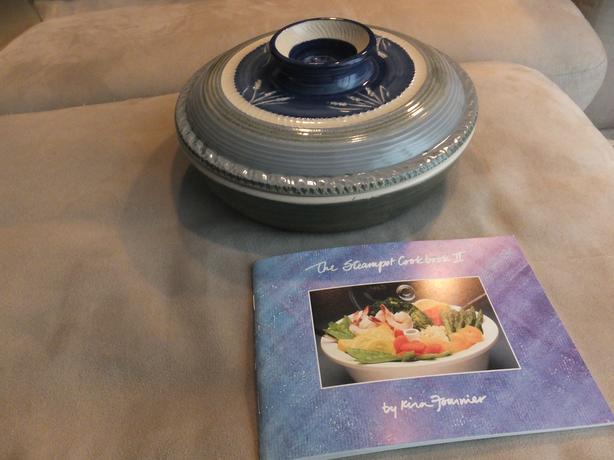 LIKE NEW - handmade ceramic steamer - Perfect housewarming gift!