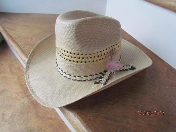Pereda Mexican Straw Cowboy Hat Size 7 1/4