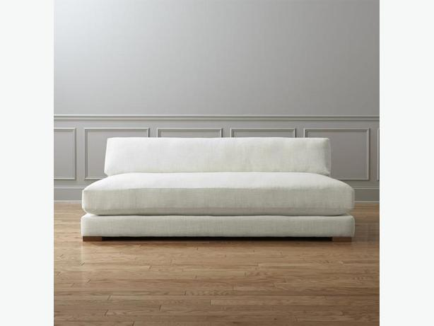 CB2 Piazza Sleeper Sofa, off white, linen look - GREAT CONDITION!