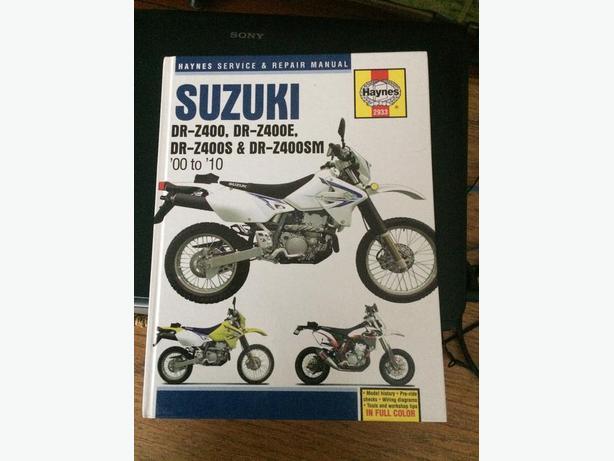 Haynes service manual Suzuki DRZ400
