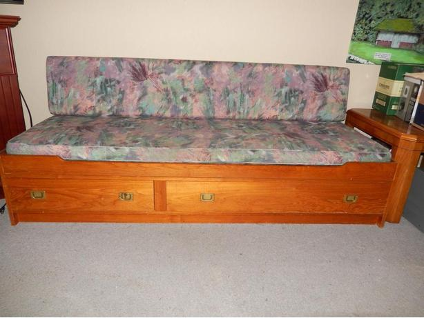 Teak bed couch