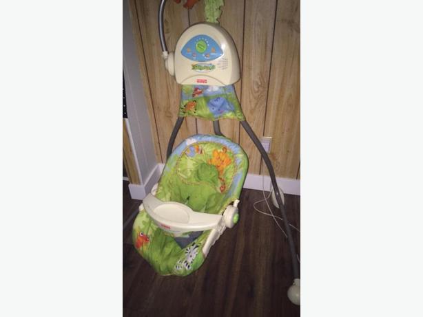 plug in baby swing