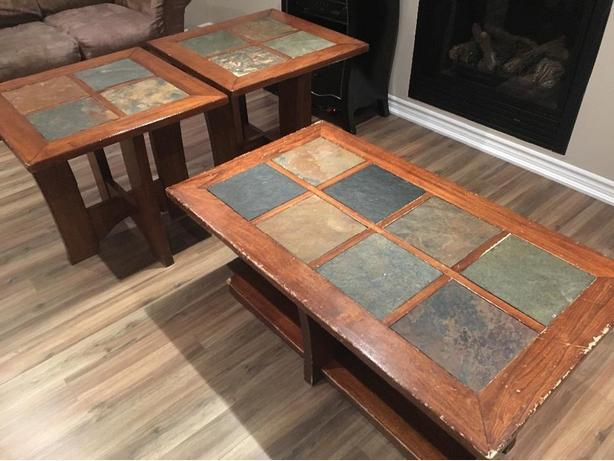 Coffee Table and Matching End Tables