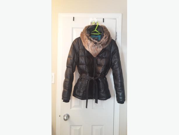 Danier Leather Brand New Women's Black Winter Jacket *mint condition*