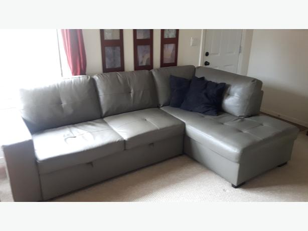 Leather Sectional Sleeper!!