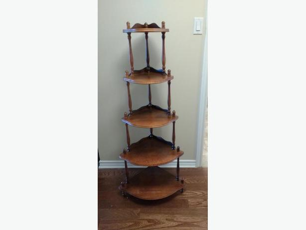 5 SHELF CORNER DISPLAY SHELF