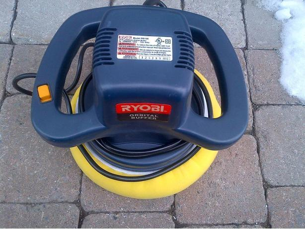 "ELECTRIC RYOBI 10"" ORBITAL TRUCK CAR BUFFER POLISHER RB100"