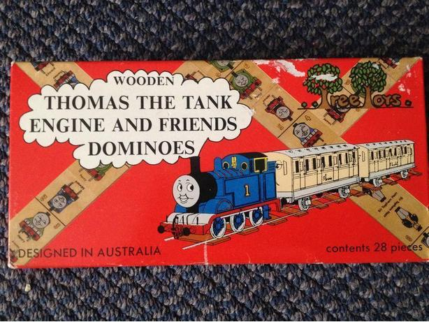 RARE 1993 Thomas The Train Tank Engine & Friends Wooden DOMINOES Game