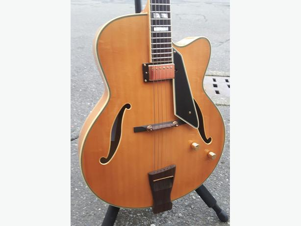 Peerless Monarch Archtop Hollow Body Electric Guitar D'Angelico w/Case
