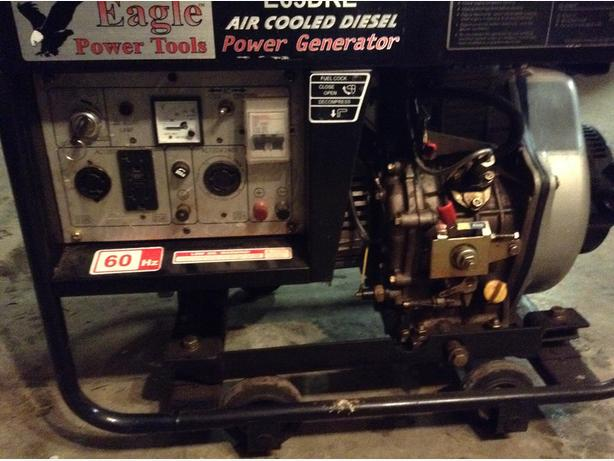 Diesel powered generator max out put 6.6-7.3 KW