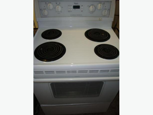 Whirlpool self clean and easy clean stove