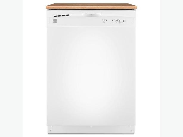 FREE: kenmore portable full size dishwasher with butcher block top