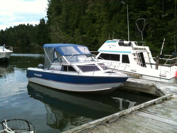 1990 22 5 Ft Princecraft Corsica Aluminum Fishing Boat W